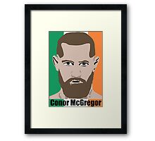 Cartoon Conor McGregor Framed Print