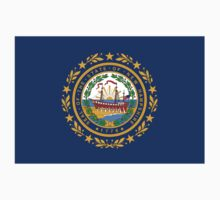 New Hampshire Flag - USA State T-Shirt Sticker Duvet Cover One Piece - Short Sleeve