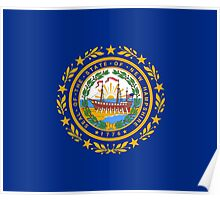 New Hampshire Flag - USA State T-Shirt Sticker Duvet Cover Poster
