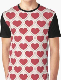 Ogee Heart Red: Bone Mocha Graphic T-Shirt