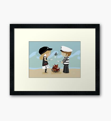 Toasting Marshmallows Framed Print