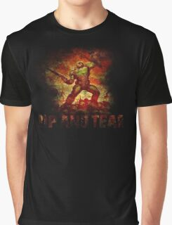 Doom - Doomslayer - Rip And Tear Graphic T-Shirt