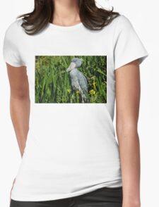 Shoebill Stork Womens Fitted T-Shirt