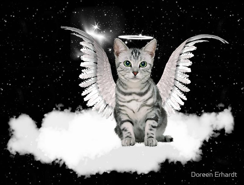 Tabby Angel Cat by Doreen Erhardt