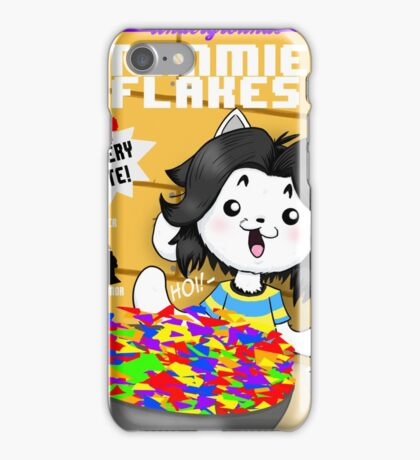temmie flakes iPhone Case/Skin