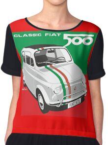 Fiat 500 Italian flag Chiffon Top