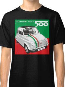 Fiat 500 Italian flag Classic T-Shirt