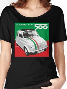 Fiat 500 Italian flag Women's Relaxed Fit T-Shirt