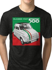 Fiat 500 Italian flag Tri-blend T-Shirt