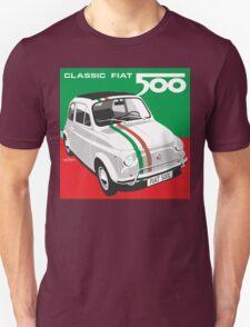 Fiat 500 Italian flag Unisex T-Shirt