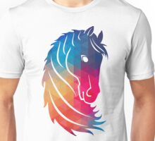 Abstract Colorful Horse Head Illustration Unisex T-Shirt