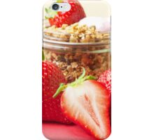 Strawberries and granola iPhone Case/Skin