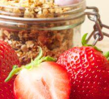 Strawberries and granola Sticker