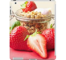 Strawberries and granola iPad Case/Skin