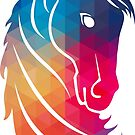 Abstract Colorful Horse Head Illustration by artonwear