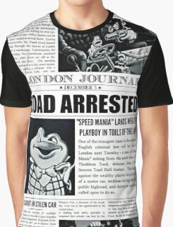 Toad Arrested Newspaper Graphic T-Shirt