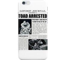 Toad Arrested Newspaper iPhone Case/Skin