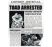 Toad Arrested Newspaper Poster