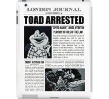 Toad Arrested Newspaper iPad Case/Skin