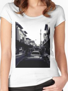 A street in Konya Women's Fitted Scoop T-Shirt