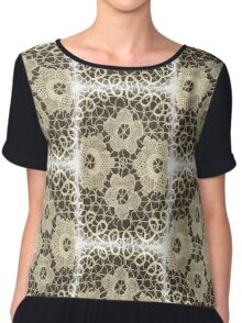Antique Lace Chiffon Top