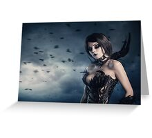 Corvus gothic style portrait  Greeting Card