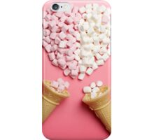 Marshmallows heart and ice-cream cones iPhone Case/Skin