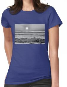 We Danced Like A Wave On The Ocean B&W Womens Fitted T-Shirt