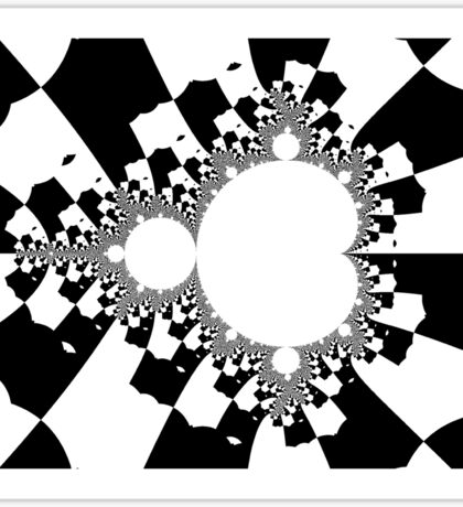 White Mandelbrot III Sticker
