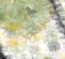 Horses and Stars Sticker