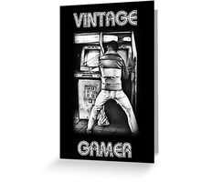 Vintage Gamer Greeting Card