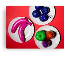 Painted Fruits Canvas Print