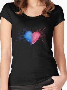Watercolor Heart  Women's Fitted Scoop T-Shirt