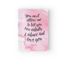 Jane Austen Watercolour Print Hardcover Journal