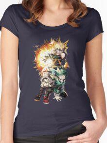 my hero academia Women's Fitted Scoop T-Shirt