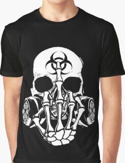 Biohazard Zombie Skull F U Graphic T-Shirt