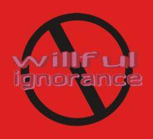Ban Willful Ignorance (pink) Kids Tee