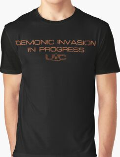 Doom - Demonic Invasion In Progress - Dirty Graphic T-Shirt