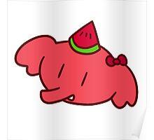 Watermelon Elephant Face Poster