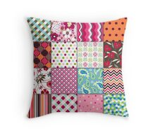 Old Fashioned Quilt Block Pattern Products Throw Pillow
