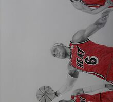 Miami Heat Big Three by Rakeem Carter