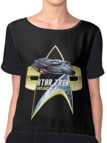 StarTrek defiant Com badge Chiffon Top