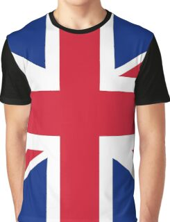 UK Union Jack ensign flag - Authentic version (Duvet, Print on Red background)  Graphic T-Shirt