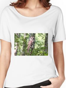 Barred Owl in the Forest Women's Relaxed Fit T-Shirt