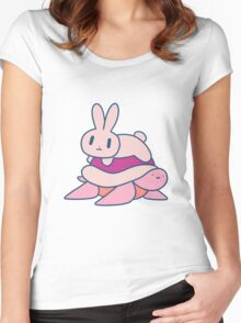 Bunny and Turtle Women's Fitted Scoop T-Shirt