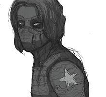 Greyscale Winter Soldier by felixfelicitas