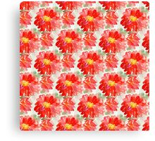 Red Flower Pattern Canvas Print