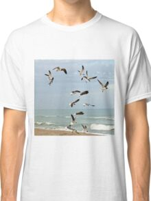Seagulls On The Beach Classic T-Shirt
