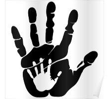 Handprint love Poster