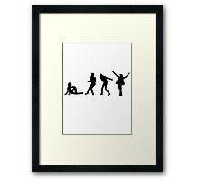 Michael Jackson Evolution Framed Print